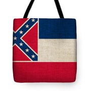 Mississippi state flag Tote Bag by Pixel Chimp