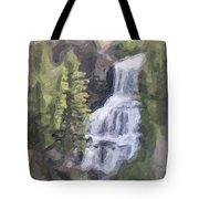 Misty Falls Tote Bag by Jo-Anne Gazo-McKim