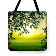 Misty Morning Tote Bag by Bedros Awak