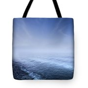 Misty Seaside In The Evening, Mons Tote Bag by Evgeny Kuklev