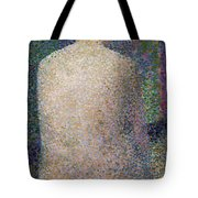 Model From The Back Tote Bag by Georges Pierre Seurat