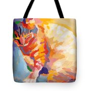 Mona Lisa's Rainbow Tote Bag by Kimberly Santini