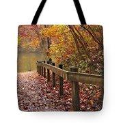 Monet's Trail Tote Bag by Debra and Dave Vanderlaan