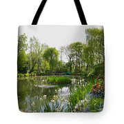 Monet's Water Garden At Giverny Tote Bag by Alex Cassels