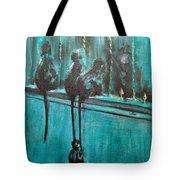 Monkey Swing Tote Bag by Usha Shantharam