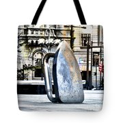 Monopoly Iron Statue In Philadelphia Tote Bag by Bill Cannon