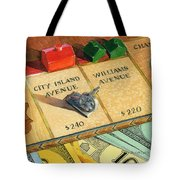 Monopoly On City Island Avenue Tote Bag by Marguerite Chadwick-Juner