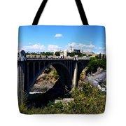 Monroe Street Bridge - Spokane Tote Bag by Michelle Calkins