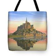 Mont Saint-Michel Morn Tote Bag by Richard Harpum