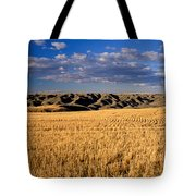 Montana   Field And Hills Tote Bag by Anonymous