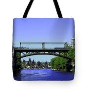 Montlake Bridge 2 Tote Bag by Cheryl Young