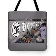 Monument Park -  Yankee Stadium Tote Bag by Allen Beatty
