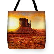 Monument Valley Tote Bag by Mo T