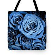 Moody Blue Rose Bouquet Tote Bag by Adam Romanowicz