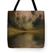 Moon over Ocean Tote Bag by Ayse Deniz