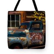 Moonshine Express Tote Bag by Debra and Dave Vanderlaan