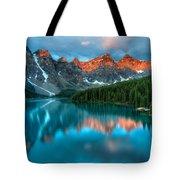 Moraine Lake Sunrise Tote Bag by James Wheeler