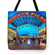 Moreys Piers In Wildwood Tote Bag by Mark Miller