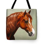 Morgan Horse - Flame Tote Bag by Crista Forest