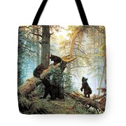 Morning In A Pine Forest Tote Bag by Ivan Shishkin