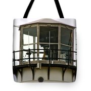 Morning Mist At Chatham Light Tote Bag by Ira Shander