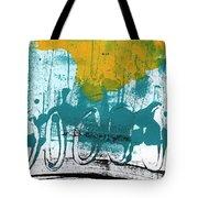 Morning Ride Tote Bag by Linda Woods