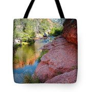Morning Sun on Oak Creek - Slide Rock State Park Sedona Arizona Tote Bag by Silvio Ligutti