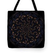 Morphed Art Globes 14 Tote Bag by Rhonda Barrett