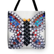 Mosaic Butterfly Tote Bag by Lisa Brandel