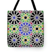Mosaic Ornament In The South Side Of The Court Of The Lions Tote Bag by James Cavanagh Murphy