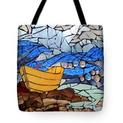 Mosaic Stained Glass - Dory  Tote Bag by Catherine Van Der Woerd