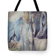 Moses And The Burning Bush Tote Bag by William Blake