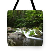Mossy Falls Tote Bag by Frozen in Time Fine Art Photography