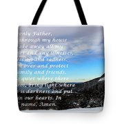 Most Powerful Prayer With Winter Scene Tote Bag by Barbara Griffin