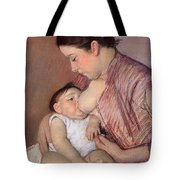 Motherhood Tote Bag by Marry Cassatt