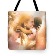 Mother's Arms Tote Bag by Mo T