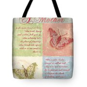Mother's Day Butterfly Card Tote Bag by Debbie DeWitt