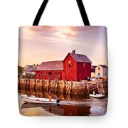 Motif Number One Rockport Massachusetts Tote Bag by Bob and Nadine Johnston