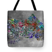 Moto Art  Floral Sp01bb Tote Bag by Variance Collections