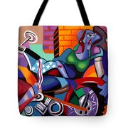 Motorcycle Mama Tote Bag by Anthony Falbo
