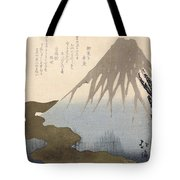 Mount Fuji Under The Snow Tote Bag by Toyota Hokkei