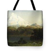 Mount Hood In Oregon Tote Bag by Albert Bierstadt