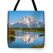 Mount Moran on Snake River Landscape Tote Bag by Brian Harig