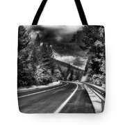 Mountain Highway Tote Bag by Mick Burkey