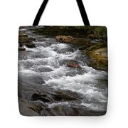Mountain Stream Tote Bag by Skip Willits