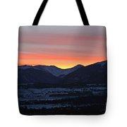 Mountain Sunrise Tote Bag by Fiona Kennard