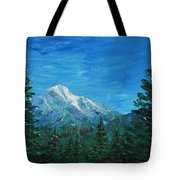 Mountain View Tote Bag by Anastasiya Malakhova