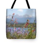 Mountain Wildflowers Tote Bag by Juli Scalzi