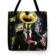Mr Blue Tote Bag by Alessandro Della Pietra