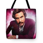 Mr. Ron Mr. Ron Burgundy From Anchorman Tote Bag by Nicholas  Grunas